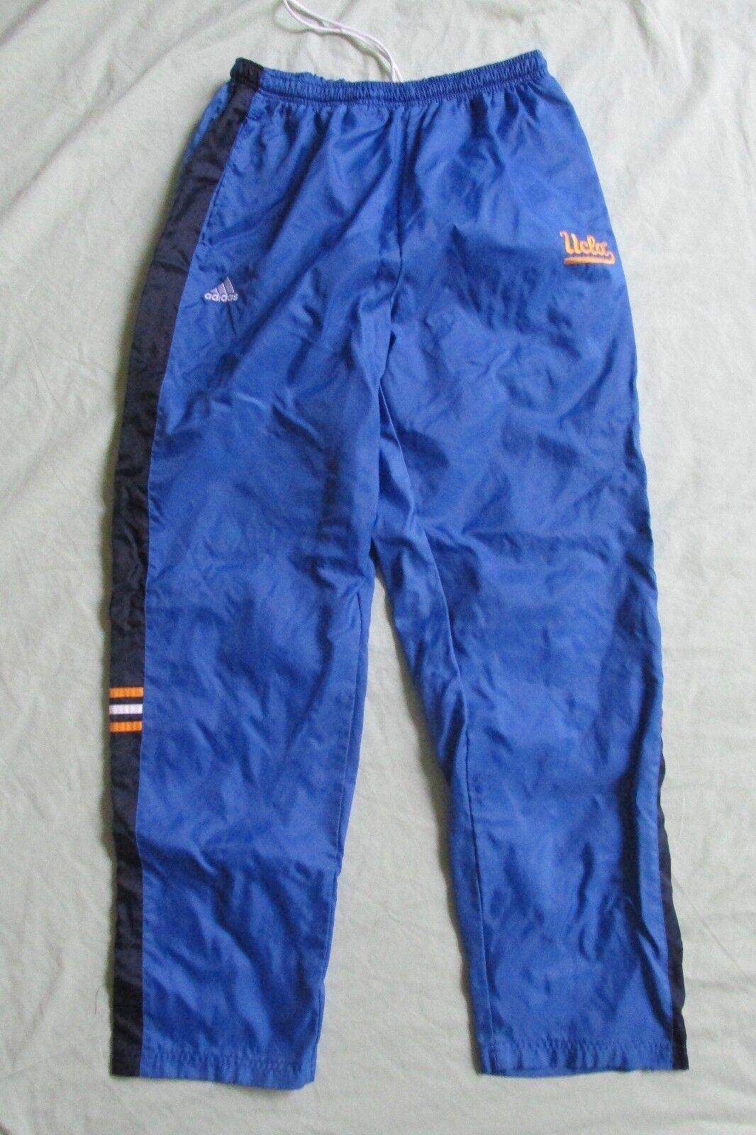 HERREN DAMEN Ucla Athletic Basketball Hose Gummibund Größe XL Blau & Gelb