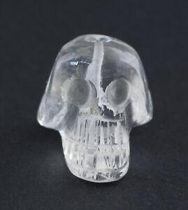 Perle-Crane-cristal-de-roche-tete-de-mort-16-5mm-Tibet-Nepal-Fait-main-26607