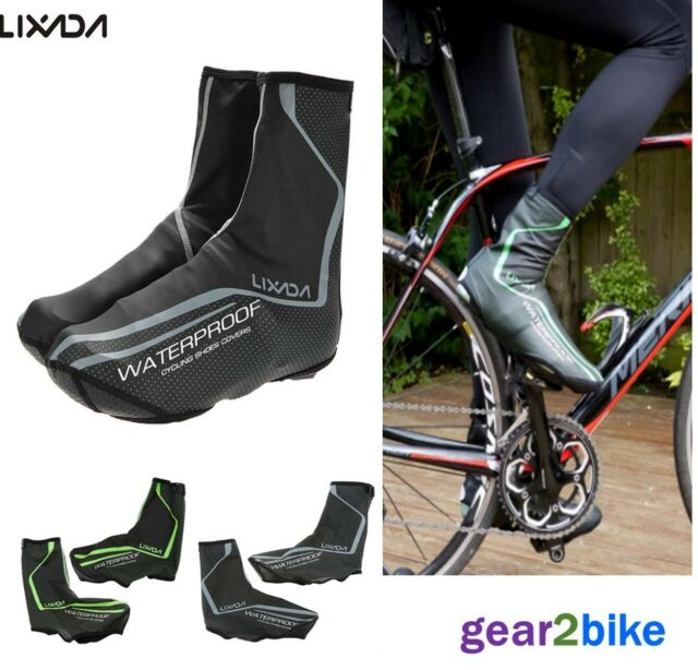 Eager Overshoe Waterproof Overshoes Black Zip Up Cycling Shoe Cover