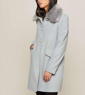 Miss Selfridge Petite WRAP COAT Manteau classique black