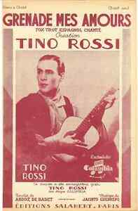 GRENADE-MES-AMOURS-BY-TINO-ROSSI-1948-SHEET-MUSIC-PARTITION-FREE-SHIPPING