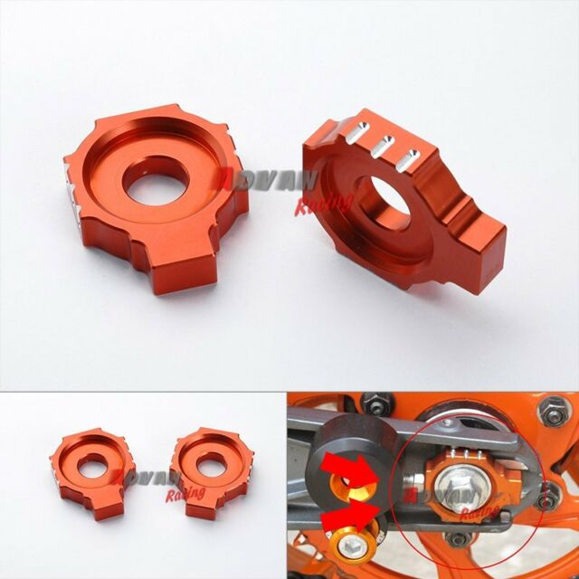 CNC Rear Axle Spindle Chain Adjuster Blocks For KTM RC 125 200 390