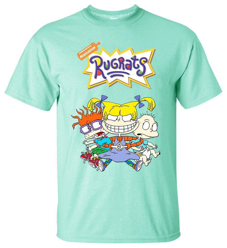 CARTOON Rugrats V1 TV Series 1990 Paul Germain T Shirt  WHITE All sizes S-5XL