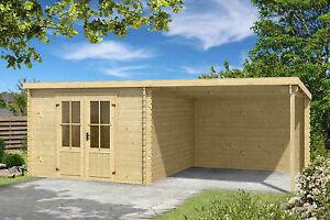 28 mm gartenhaus mit anbau gerätehaus blockhaus holzhaus holz, Moderne