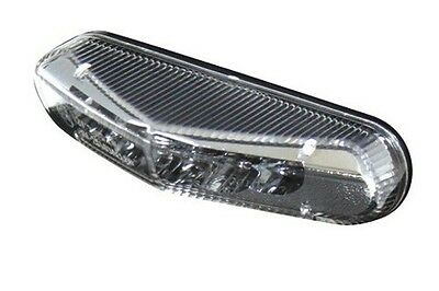Mini LED-Rücklicht Universal Klarglas mit Kennzeichenbeleuchtung für Motorrad