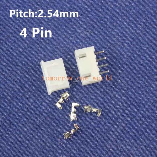 4-poliger PCB-Header und Steckverbinder Mini Mirco JST 2.54 mm XH-4P 50PAIRS