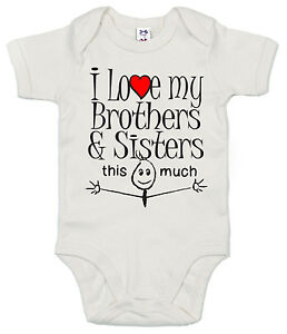 Funny Baby Bodysuit I Love My Brothers Sisters This Much