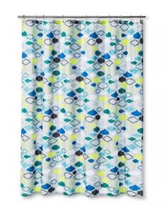 Image Is Loading Sabrina Soto Explorer Teal Gray Lime Fabric SHOWER