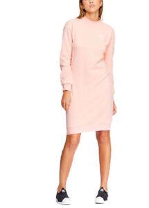 biografía Incesante valores  adidas Originals Pink Pastel Camo Midi Crew Long Sweater Jumper ...