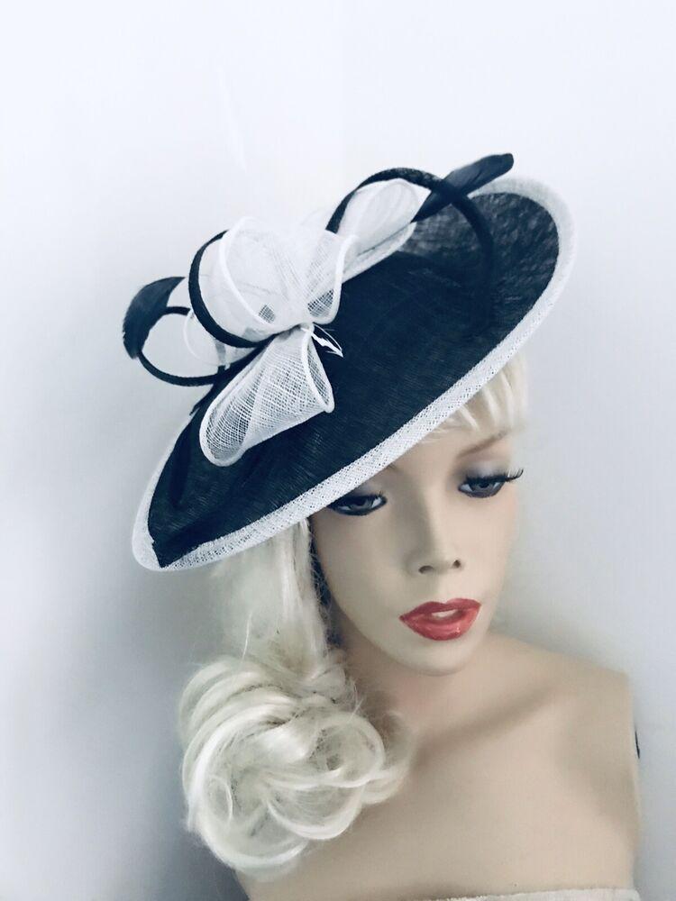 Noir Ascot mariage DISC Hatinator Chapeau Occasion Formelle Mère de la mariée