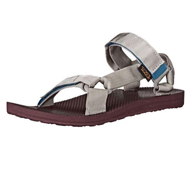bc9872834 Teva Original Universal Woolrich Socks US 14 M Grey Strap Sandals Mens Shoes   70