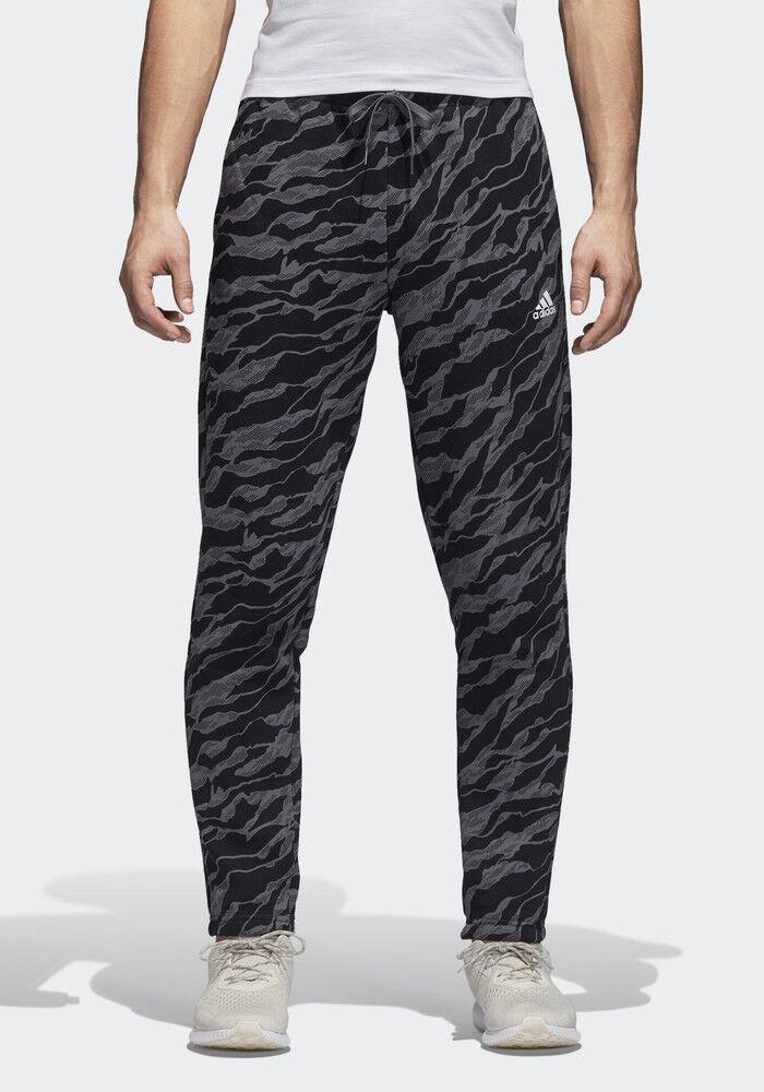 Adidas Pantaloni tuta Pants Nero Camo Camo Camo Essential Allover Print con tasche Coton cb2c5e