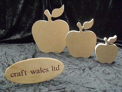 MDF Apple Shape Wooden 18mm Freestanding Craft Home Decoration Fruit Kitchen