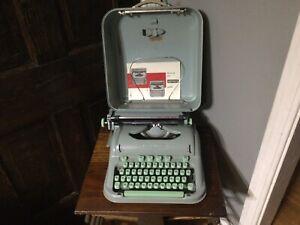 Hermes 3000 Seafoam Green Portable Typewriter Non Working Needs Repair Parts