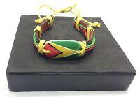 Guyana Flag Bracelet Gt George Town Guyanese Soca Calypso Reggae Creolese