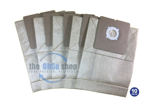 10 x PROACTION Vacuum Cleaner Bags To Fit VC9108 1400 Compact