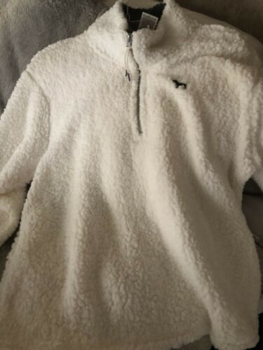 Nwt Zip Quarter Large Pink Secret White Victoria Sherpa Pullover qwrqRgH