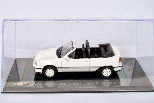 IXO//Altaya   1:43 Chevrolet Kadett GSI Cabrio Opel Kadett E 1992  weiss