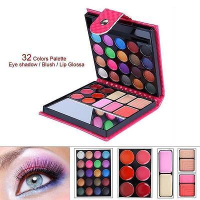 Cosmetic Matte Eyeshadow Cream Eye Shadow Makeup Palette Shimmer Set 32 Color GA