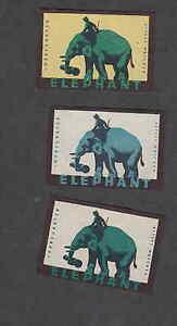 3 Anciennes étiquettes Allumettes Eléphants ZVXULdwQ-08053727-605605914