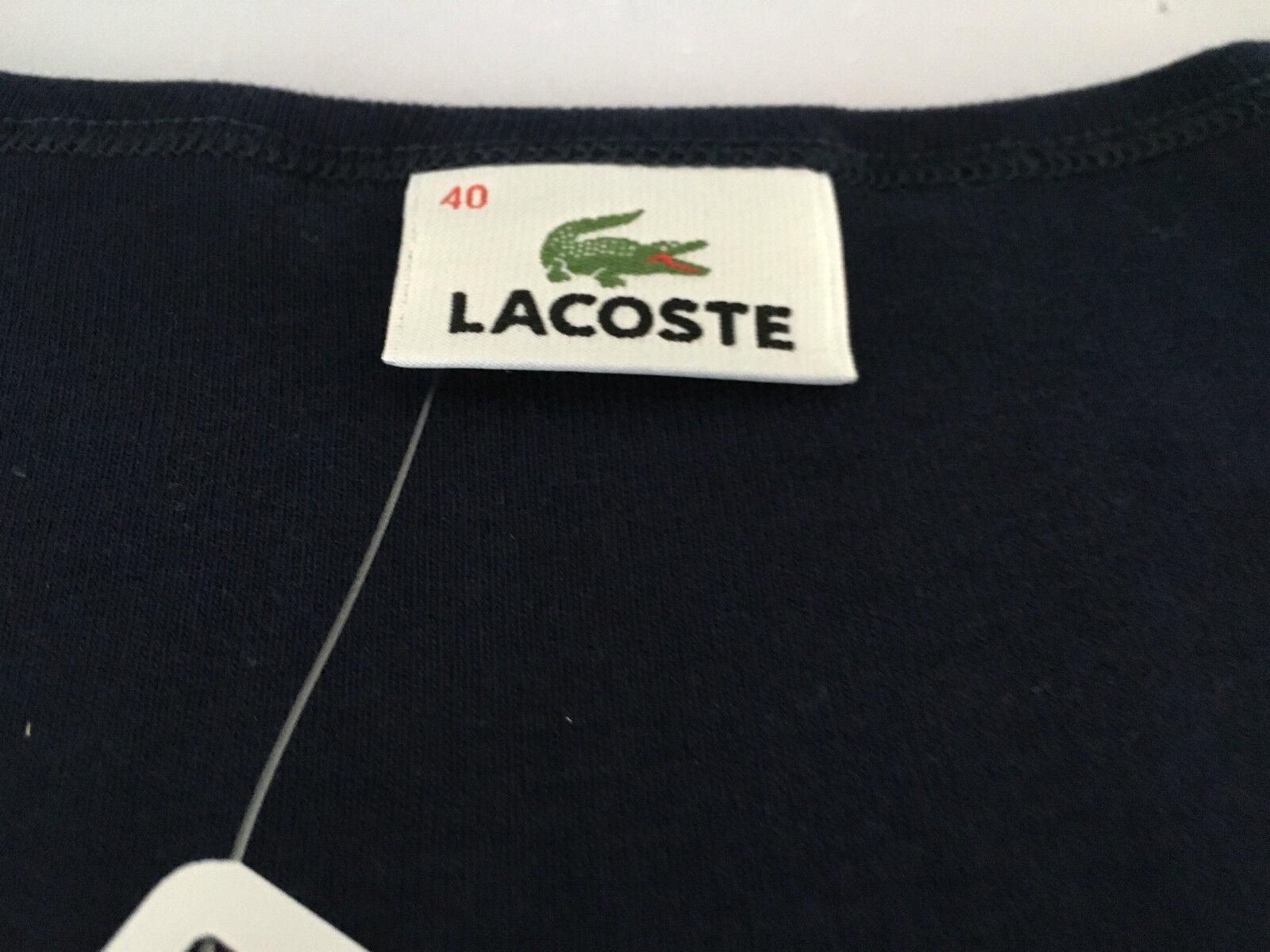 LACOSTE canotta donna 100 % % % cotone vestibilità slim 1b1e74