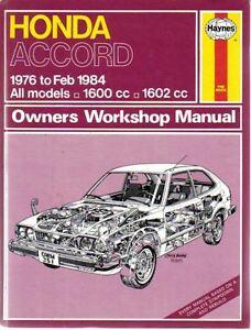 honda accord 1600 1602cc haynes workshop manual 1976 feb 1984 uk rh ebay co uk haynes workshop manual auto emissions control haynes workshop manual auto emissions control