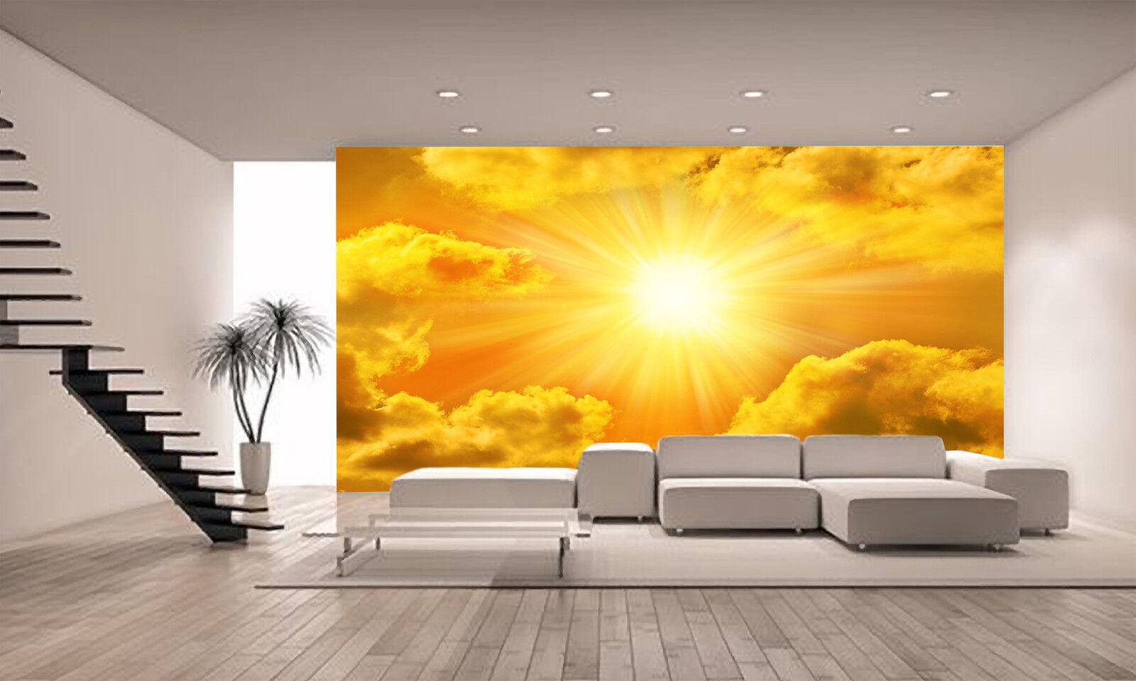 Golden Sky Sun   Wall Mural Photo Wallpaper GIANT DECOR Paper Poster Free Paste