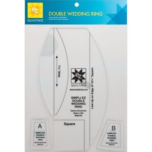 Details About Ez Quilting Double Wedding Ring Template 3 Pkg