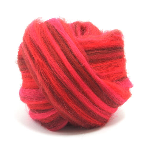 50g DYED MERINO WOOL BLEND PASSION DREADS 64/'s SPINNING FELTING ROVING