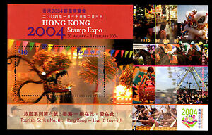 Hong-Kong-Sc-1082-S-S-10-HK-2004-Stamp-Expo-Tourism-Series-No-6-Live-it