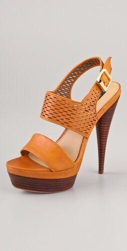Raschel Zoe Beau Platform sandalias marrón laser Corte cuero a 7,5 m