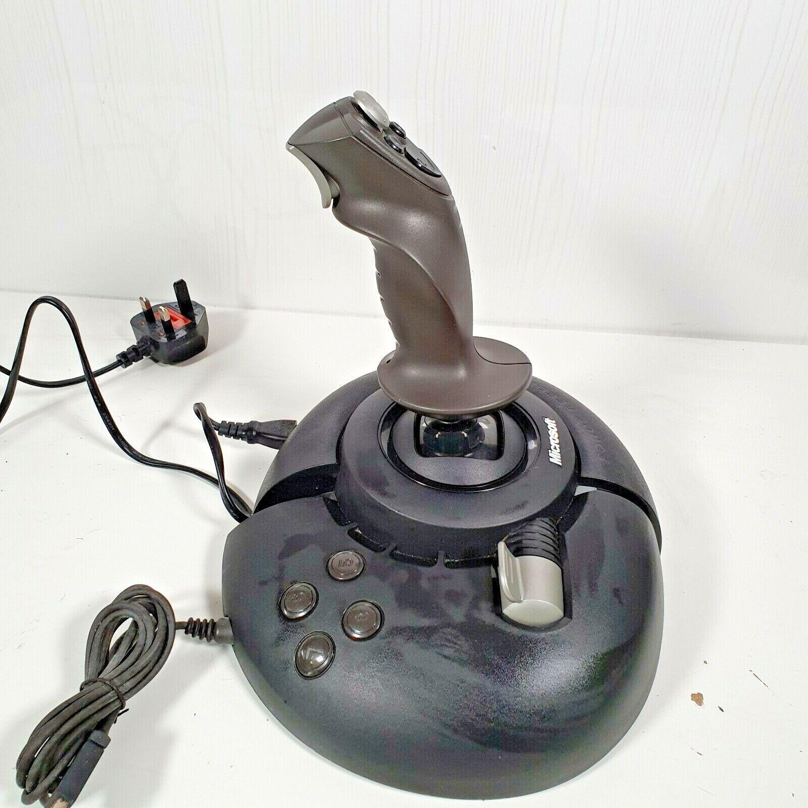 Microsoft SideWinder Force Feedback 2 USB Joystick. Multi Button Controller. VGC