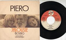 PIERO TROMBETTA disco 45 g. MADE in ITALY Jalousie + Bolero 1979 STAMPA ITALIANA
