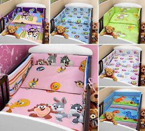 Baby Bettwäsche Set 2 Piecestück Kinderbett Wiege Steppdecke