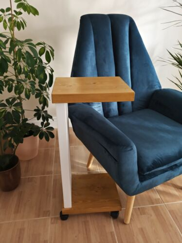 Sofa Bed Side Mobile End Table Coffee Laptop Book Stand 100/%Wooden Handmade