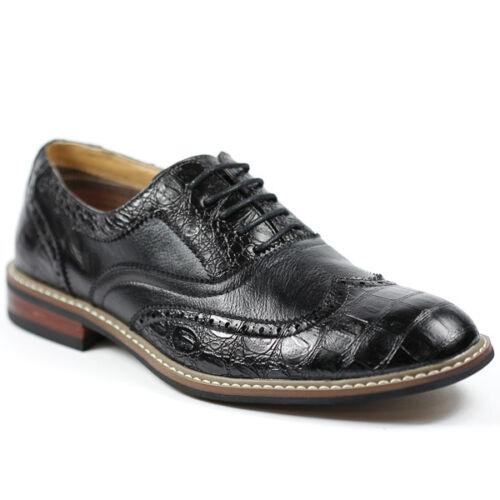 Ferro Aldo Men/'s Black Wingtip Lace up  Oxford Dress Shoes M-139001B