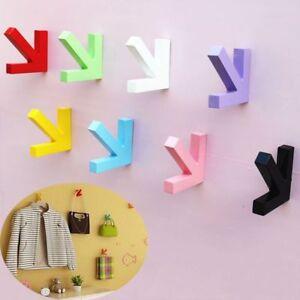 Door-Multifunction-Arrow-Wood-Hanger-Wall-Hooks-Storage-Rack-Home-Organizer
