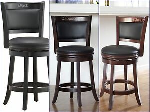 counter height bar stool wood kitchen office swivel stool chair