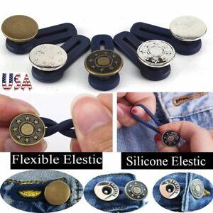 Adjustable 1-10Pcs Jeans Retractable Button Detachable Extended Button For Pants
