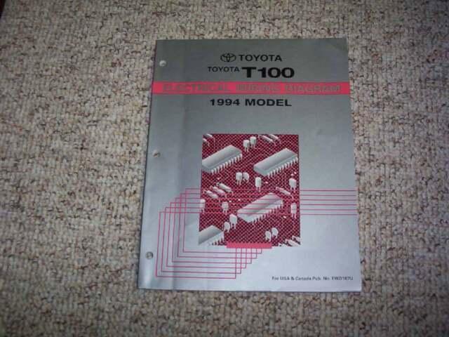 1994 Toyota T100 Electrical Wiring Diagram Manual Dx Sr5 2