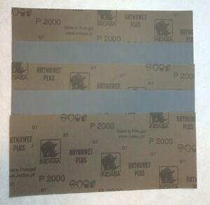Feuille Abrasive Imperméable 115 x 280 Grain 2000 - lot de 5