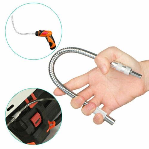 "1//4/"" Hex Drill Bit Flexible Screwdriver Extension Socket Holder Adapter"