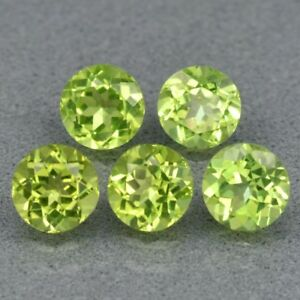 5mm-5pcs-Lot-Round-Natural-Untreated-Green-Peridot-Pakistan