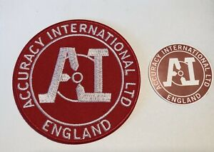 Details about Accuracy International 'ENGLAND' Sniper Rifles, 85mm Patch, +  Matching Sticker