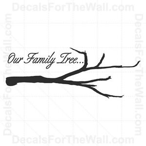 Details about Our Family Tree Wall Decal Vinyl Art Sticker Quote  Inspirational Saying F62