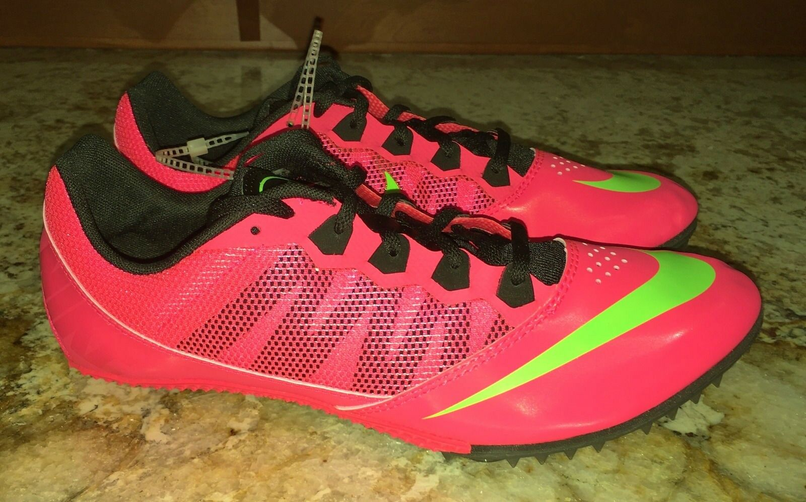 NIKE Rival S 7 Hyper Punch Lime Green Sprint Track Spikes Shoes NEW Mens 11 14 The latest discount shoes for men and women