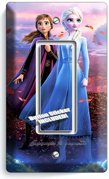 Elsa and Anna Frozen Movie Custom Light Switch Plate Cover Choose Cover Type