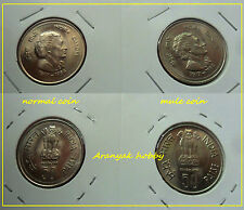 UNC MULE ISSUE - DIE VARIETY of 50 PAISE INDIRA GANDHI COIN FROM KOLKATA MINT