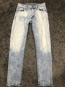 American Eagle Next Level Flex Slim Mens Jeans Size 30x32 Light Wash Distressed
