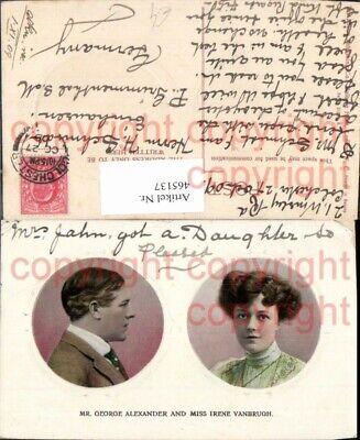PüNktlich 465137,schauspieler Mr. George Alexander And Miss Irene Vanbrugh Portrait